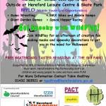 Flyer for Skate Park event at Half Term