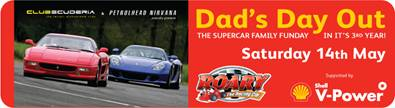 Flyer for super car day out in Surrey