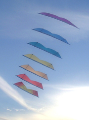 A stack of kites