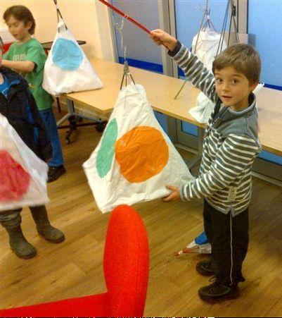 A child holding a paper lantern