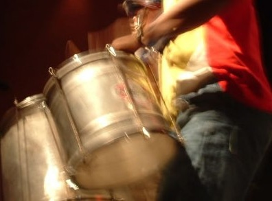 Samba drums being played