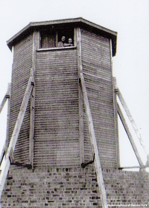 The Garway Hill Radio Tower as it looked during the Second World War
