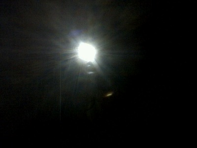 A picture of torch light in the dark
